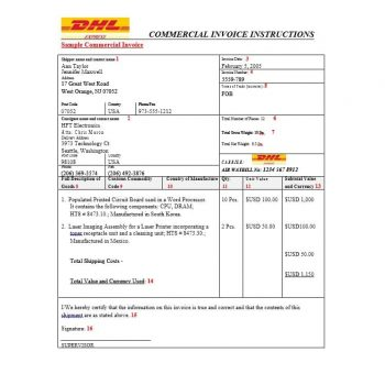 Commercial Invoice Template 19