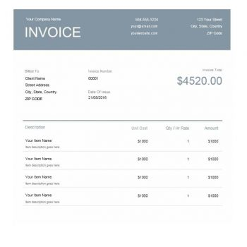 Commercial Invoice Template 25
