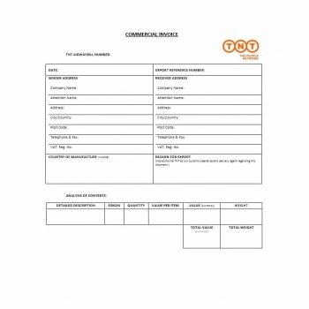 Commercial Invoice Template 28