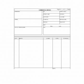 Commercial Invoice Template 31