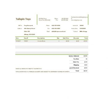 Commercial Invoice Template 40