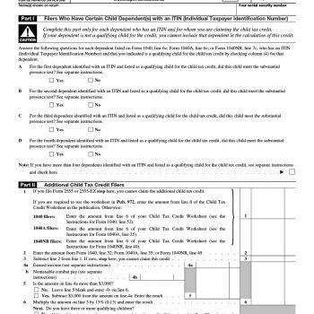 23 Latest Child Tax Credit Worksheets [+Calculators & Froms]