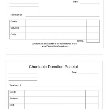 Donation Receipt Template 02  Donations Template