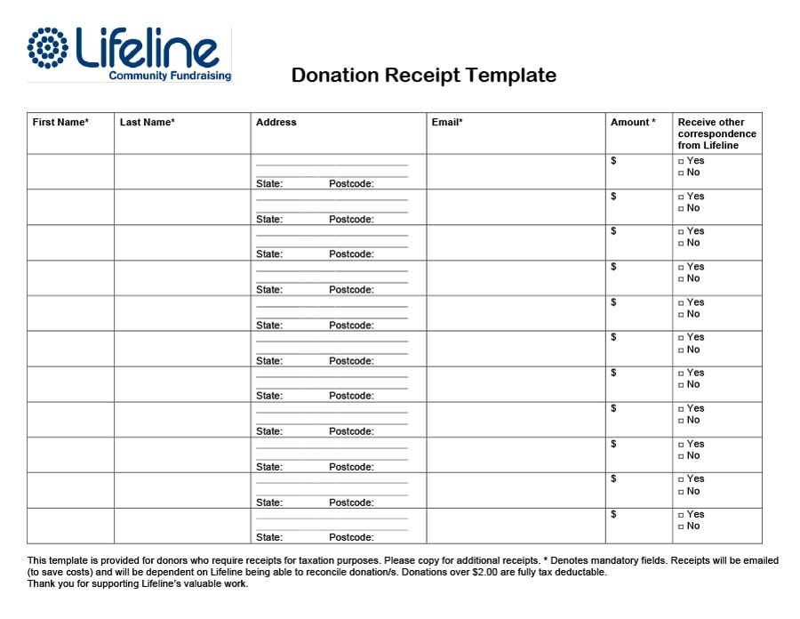 donation receipt template 09