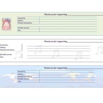 donation receipt template 16