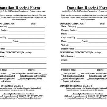 donation receipt template 21
