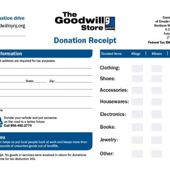 donation receipt template 24