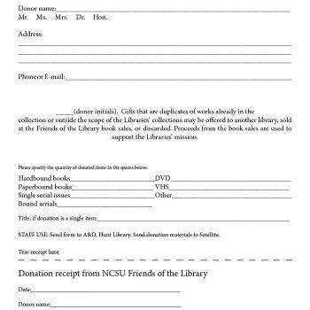 donation receipt template 28