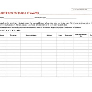 donation receipt template 31