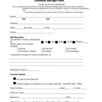 donation receipt template 37