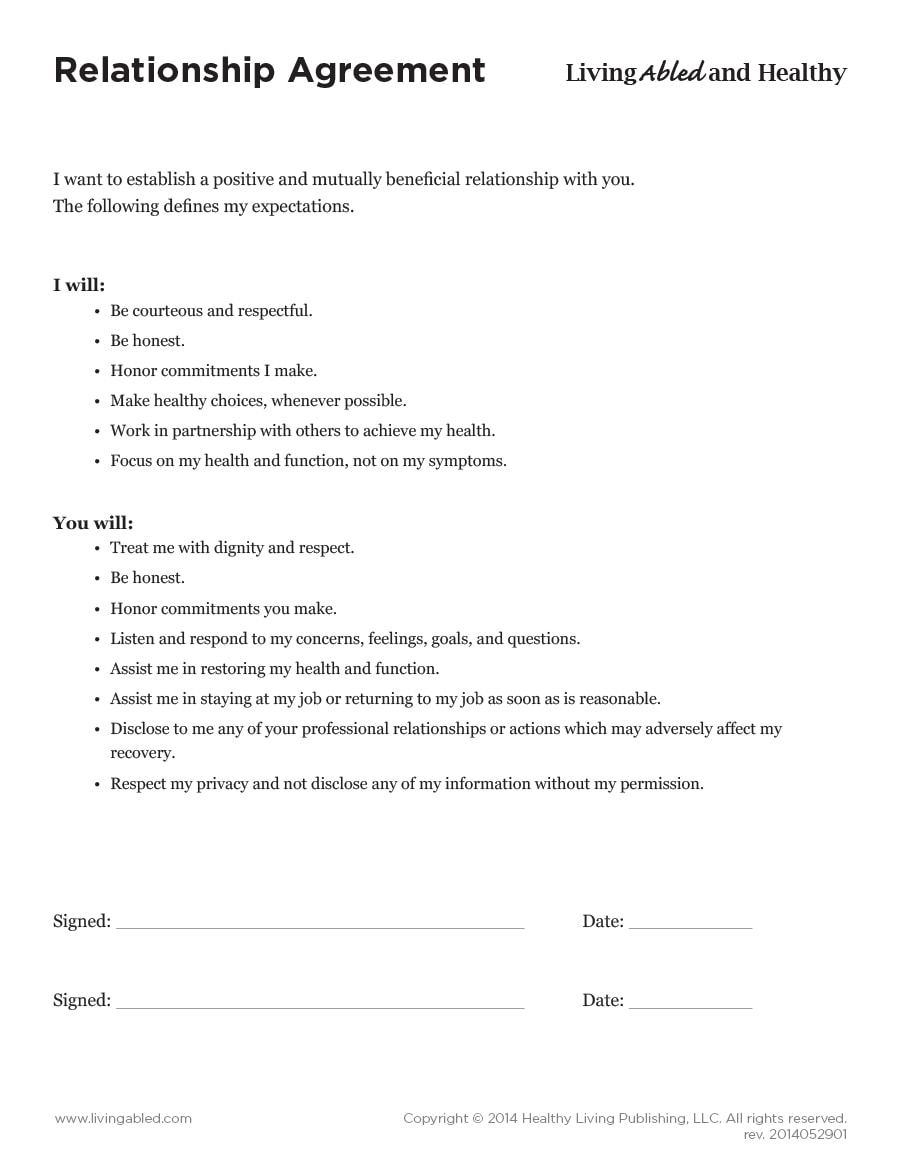 20 Relationship Contract Templates Relationship Agreements