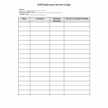 self employment ledger template 03