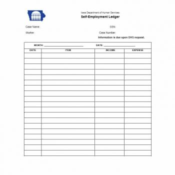 self employment ledger template 06