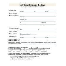 self employment ledger template 08