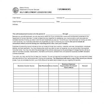 self employment ledger template 10
