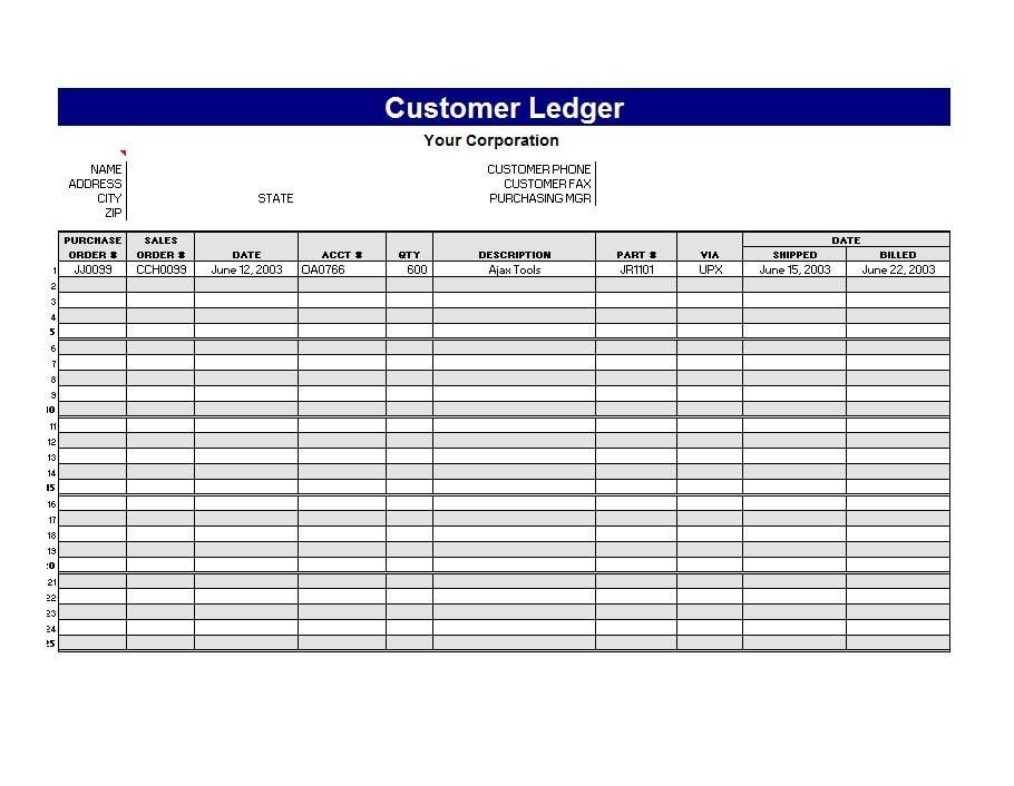 Ledger Paper Template Excel Template For Self Employment Ledger