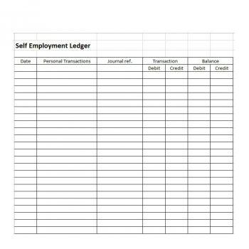 self employment ledger template 18