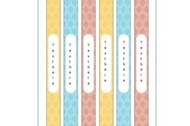 Binder Spine Template 06