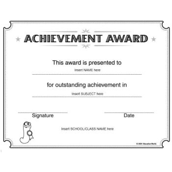 Certificate of Achievement Template 04