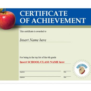 Certificate of Achievement Template 06