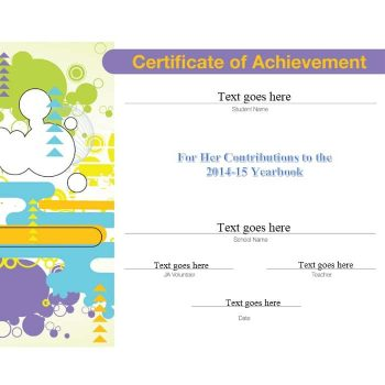 Certificate of Achievement Template 08
