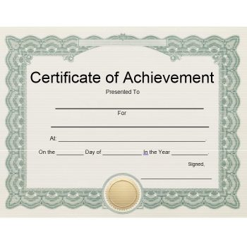 Certificate of Achievement Template 10