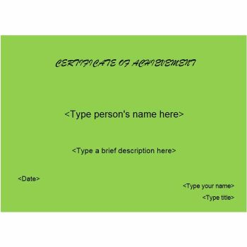 Certificate of Achievement Template 11