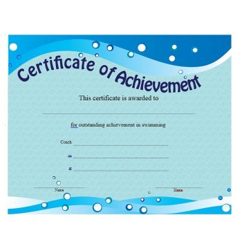 Certificate of Achievement Template 12