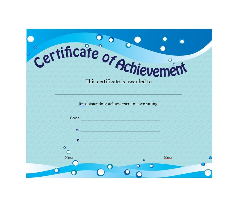 certificate of achievement template 12 - Certificate Of Accomplishment Template
