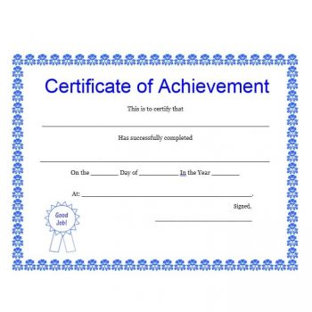 Certificate of Achievement Template 14