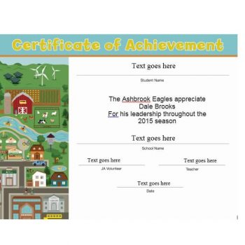 Certificate of Achievement Template 15