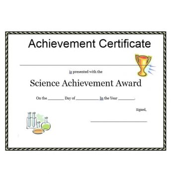 Certificate of Achievement Template 16