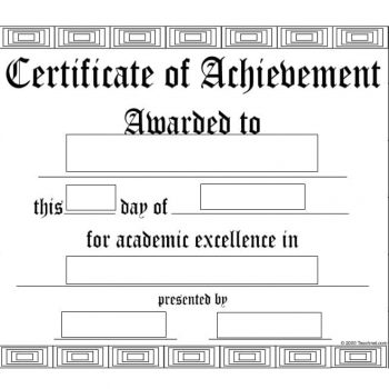 Certificate of Achievement Template 18