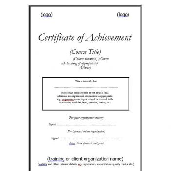 Certificate of Achievement Template 19