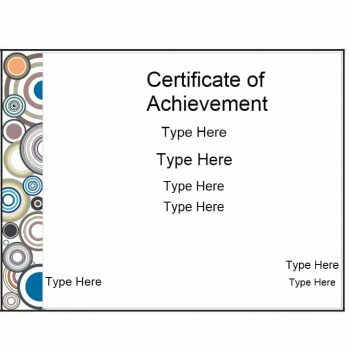 Certificate of Achievement Template 20