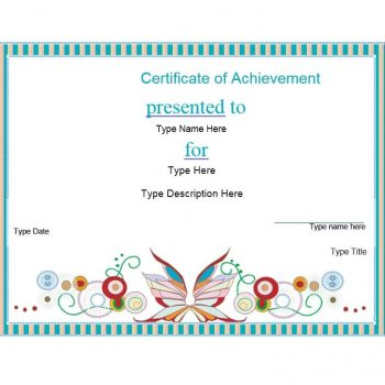 Certificate of Achievement Template 22