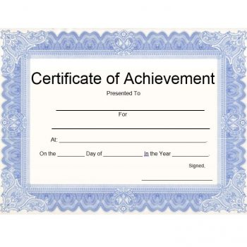 Certificate of Achievement Template 24