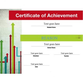 Certificate of Achievement Template 25