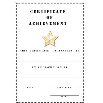 Certificate of Achievement Template 26