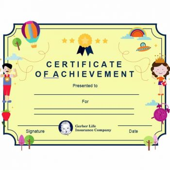 Certificate of Achievement Template 27