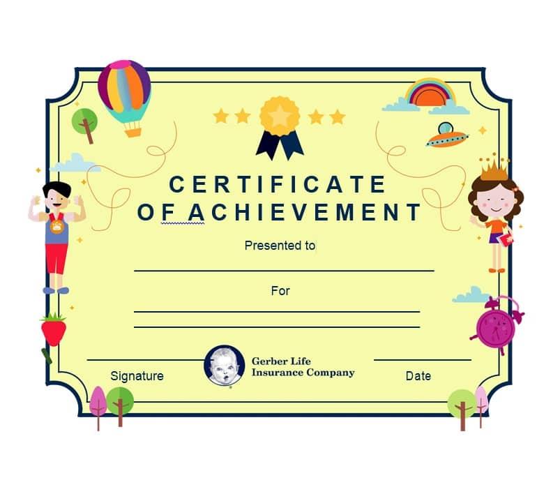 Certificate of Achievement Template 27