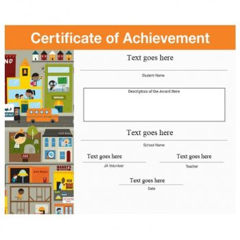 Certificate of Achievement Template 28