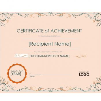 Certificate of Achievement Template 29