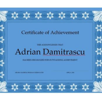 Certificate of Achievement Template 32