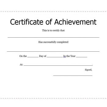 Certificate of Achievement Template 35
