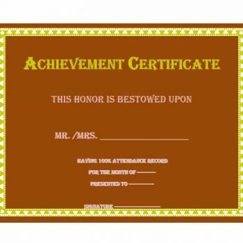 Certificate of Achievement Template 36