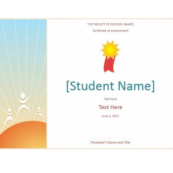 Certificate of Achievement Template 39
