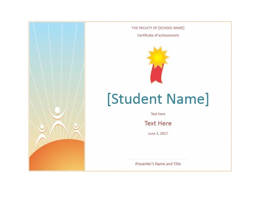 Certificate of Achievement Template 39