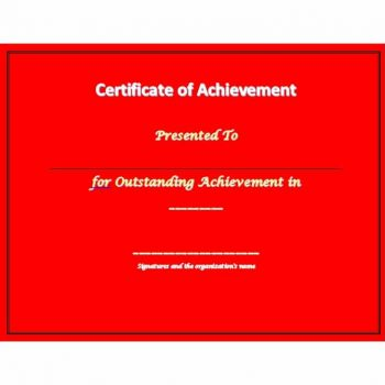 Certificate of Achievement Template 40