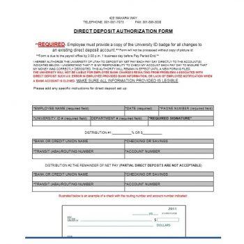 Direct Deposit Authorization Form 04